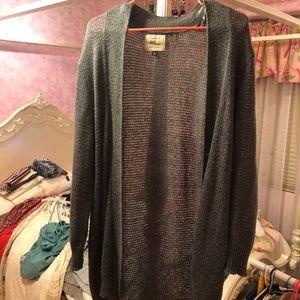 Grey Cardigan Long Sweater